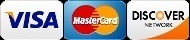 We Gladly accept VISA - MASTERCARD - DISCOVER